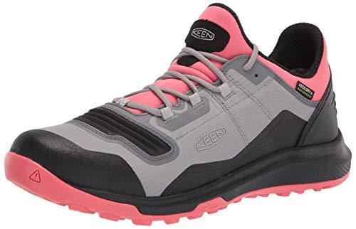 KEEN Women's Tempo Flex Low Height Lightweight Waterproof Hiking Shoe, Dubarry/Black, 9.5 M (Medium) US