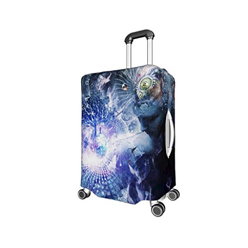 Lightweight Multiple Colors Suitcase Cover Dust-Proof 18 to 32 Inch for Baggage White m (22-24 inch)