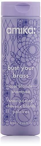 Amika Bust Your Brass Cool Blonde Shampoo, 2.03 Fl Oz