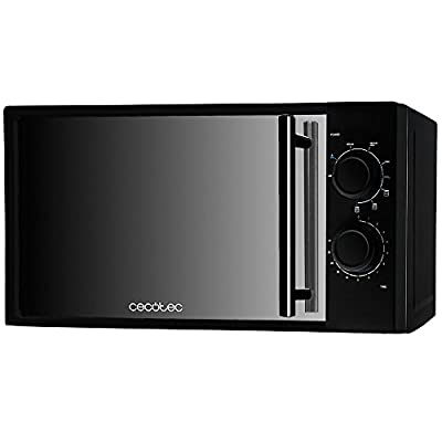 Black Microwave with Grill and Mirror Frontal, 1200 W Input, 700 W Output, 900 W Grill, 20 l, 9 Power Levels, 3 Combi Modes. Cecotec All Black Grill. from Cecotec