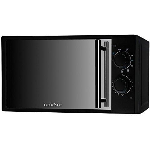Cecotec Microondas con Grill All Black. Capacidad de 20l, 700 W, grill de 900W, 9 Niveles...