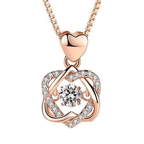 Corazón collar de plata femenina melocotón estrella de seis puntas, smart-corona-remolques, el aniversario del juego All-Valentine, joyas,(Diamante blanco) (remolque solamente),925