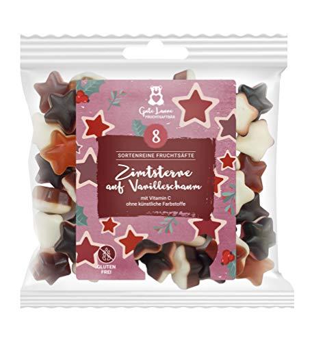 naschlabor x Fruchtsaftbär mit Herz Weihnachten   sortenreine Fruchtsäfte   Ohne künstliche Farbstoffe und Geschmacksverstärker   Gluten- und Laktosefrei (Zimtsterne auf Vanilleschaum)