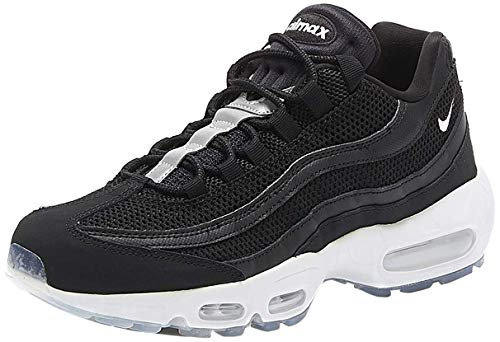 Nike Men's Air Max 95 Essential Track & Field Shoes, Multicolour (Black/White/Black/Reflect Silver 000), 12 UK