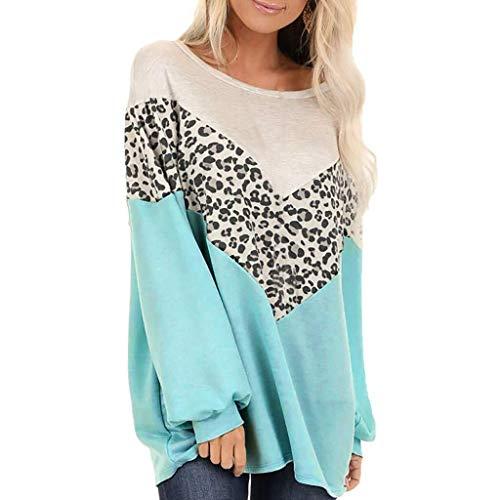 Vrouwen Ladies Cotton Zomer Lente Herfst korte mouw Triple Stripe T-shirt Casual Blouse (Color : X1-c-blue, Size : S)