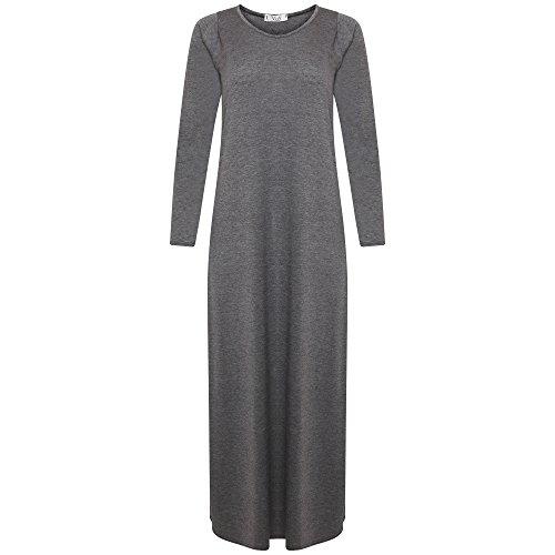 Momo&Ayat Fashions dames shirt met lange mouwen lichtgewicht casual Maxi lange jurk Britse maat 8-26