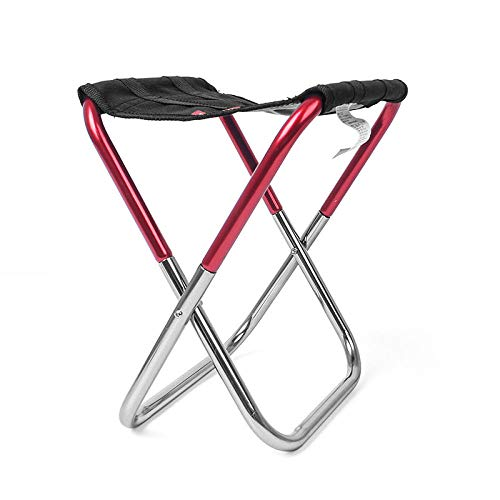 Simmia Home Grand Camping Chaise De Pêche Pliant Kamp Sandalyesi Pliable en Plein Air Sillas de Playa Tabouret Portable Silla Plegable Plage Banc, Rouge