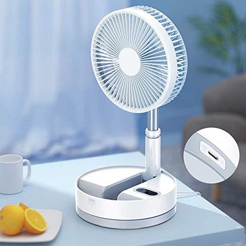 Ventilador de mano Nuevo ventilador telescópico Ventilador de aterrizaje de escritorio plegable Enfriador de aire Mesa silenciosa Usb recargable Ventilador eléctrico portátil para dormitorio pequeño