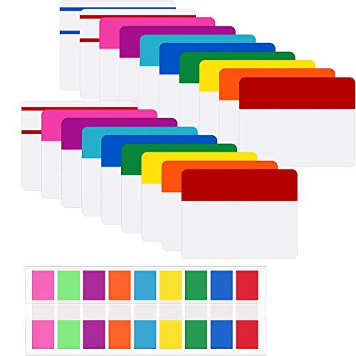 580 Piezas Notas Índices Adhesivos de 2 Pulgadas Etiquetas Adhesivas de Archivos Escribibles y Reposicionable para Marcador de Página o Libro Clasificar Archivos, 21 Juegos 10 Colores