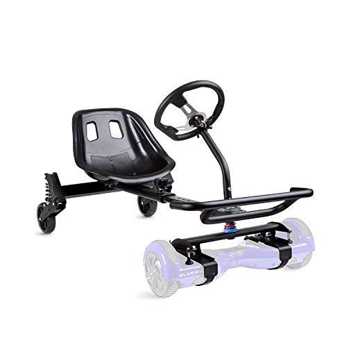 """Bluewheel Asiento para Patinete eléctrico HK400 - Extensión de Asiento para el Hoverboard de 6,5 - 10"""", Hover E-Kart, Go-Kart eléctrico, Manillar y Asiento Confort -Kit de conversión"""