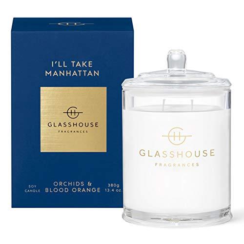 GLASSHOUSE グラスハウス アロマキャンドル (マンハッタン)ブラックローズ 350g