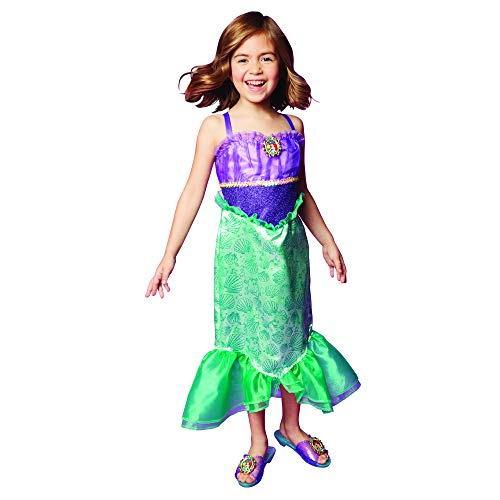 Disney Princess Ariel Dress Costume for Girls, Perfect for Party, Halloween Or Pretend Play Dress Up
