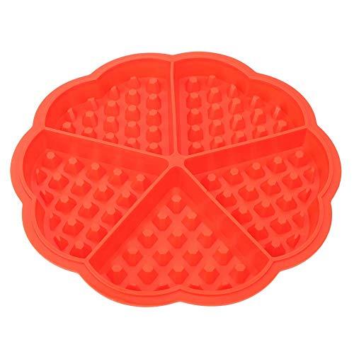 Emoshayoga Molde para gofres Molde para Muffins 3 uds 5 Rejillas en Forma de corazón Silicona Antiadherente Resistente al Calor Molde para Tartas de gofres DIY para Uso doméstico en la Cocina