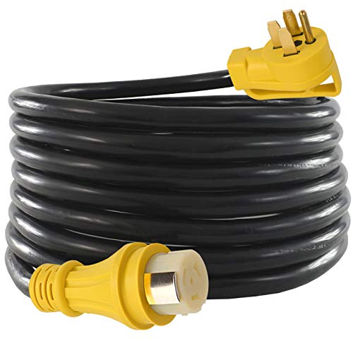 25Ft 50Amp STW Heavy Duty RV Extension Cord,14-50P Male and SS2-50R Twist-Locking Female,125V/250V for RV Trailer, Camper, Motorhome