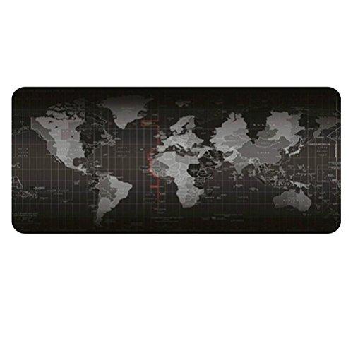 Frcolor, tappetino per mouse da gioco allungato, con planisfero, da scrivania, di grandi dimensioni: 80 x 30 cm
