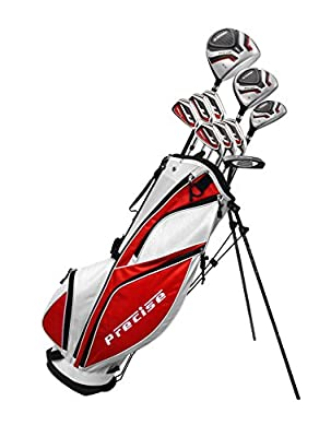 MDXII Men's Complete Golf Clubs Full Package Set Includes Titanium Driver, S.S. Fairway, S.S. Hybrid, S.S. 5-PW Irons, Putter, Bag, HC's (All Graphite - Regular Size, Right Hand)