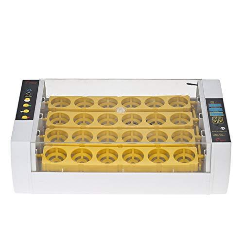 WAZA HHD 24 Stück Brutmaschine vollautomatisch Hühner, Brutapparat Flächenbrüter Inkubator Eingebaute Schierlampe Transparenter Deckel Automatische Temperatur