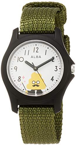 [セイコーウォッチ] キッズ腕時計 アルバ うんこ漢字ドリルモデル ホワイト文字盤 AQGS014 ボーイズ グリーン