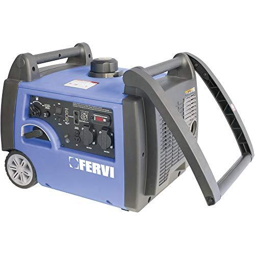 Fervi GI01 32 Generatore Inverter, 3.2 kVA, 2800 W, Ciano Grigio Nero