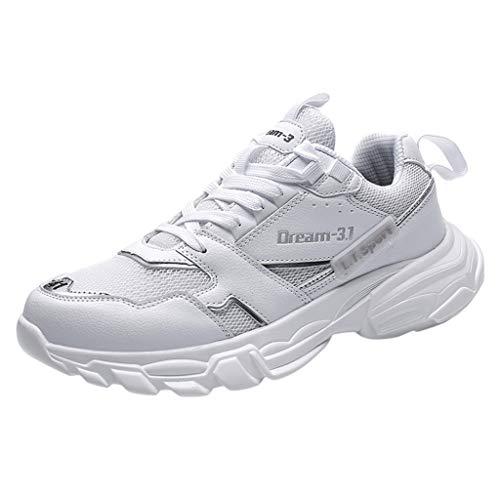 OPAKY Zapatillas de Deporte Hombre Respirable para Correr Zapatos Running Calzado Ligeras Moda Masculina Colores de Mezcla Salvajes Calzados Informales Bajas Transpirables y Cómodas