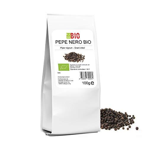 Pepe Nero grani interi Bio 100 g - 100% Naturale Spezia condimento Cucina Vegan - LaborBio
