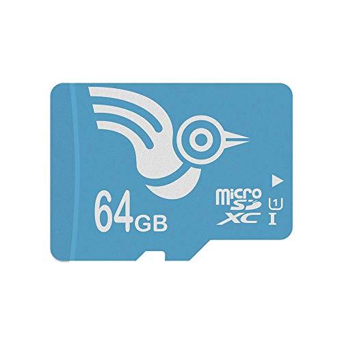 ADROITLARK Scheda Micro SD 64GB ad alta Velocità U1 Classe 10 Scheda di Memoria MicroSDXC per GoPro   Fotocamera   Telefoni Cellulari   Tablet con Adattatore (U1 64GB)