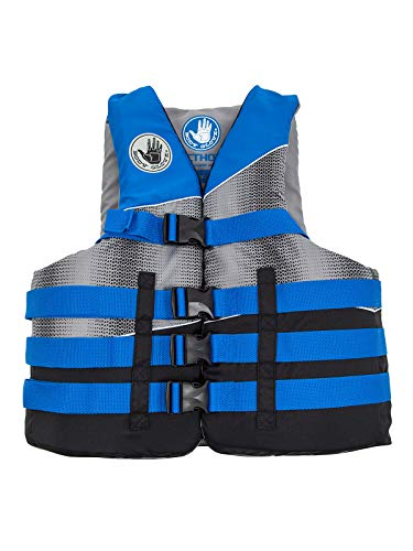 Body Glove Mens Method Life PFD Jacket, Black/ElectricBlue/Silvergrey, Large/X-Large
