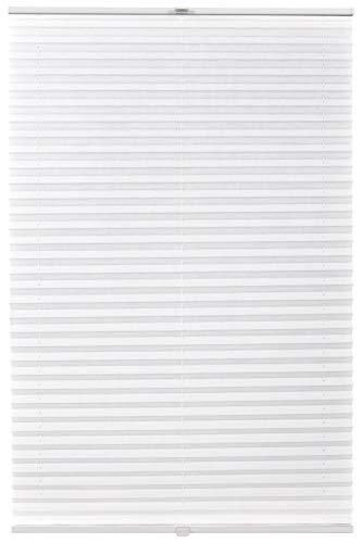 Estor plisado a medida, montaje interior, hasta 27 mm, protección solar, oscurecimiento para ventana de techo, color blanco, ancho 91 – 100 cm, altura 201 – 250 cm