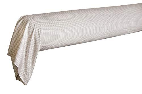 Blanc des Vosges Cerf Volant canapa - Federa per cuscino cilindrico, 90 x 190 cm, in raso stampato a 120 fili/cm²