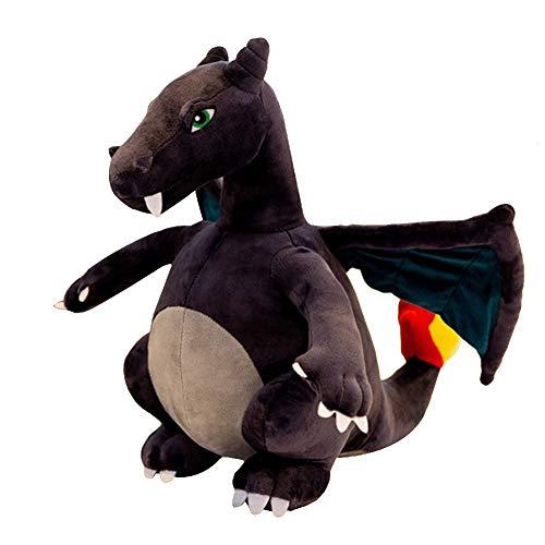 "krisphily Evolutive Winged fire-Breathing Dragon Plush Doll Toys Charizard Stuffed Animal Dinosaurs 13"" (Gray)"