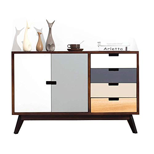 ZGONGLQQ nachtkast-nachtkastje Moderne Scandinavische eenvoudige ladekast TV kast opbergkast multi-lade locker/hout (kleur: B)
