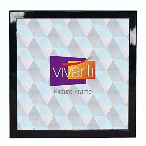 Dun glanzend zwart fotolijst, 60 x 60 cm,