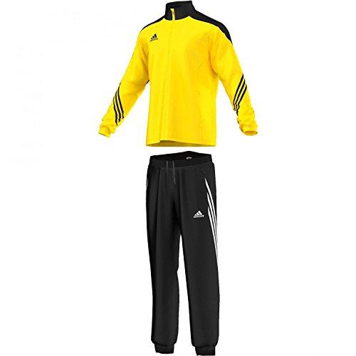 adidas Herren Fußball Bekleidung Sere14 Präsentations Trainingsanzug, Mehrfarbig (Sun/Black/White), S