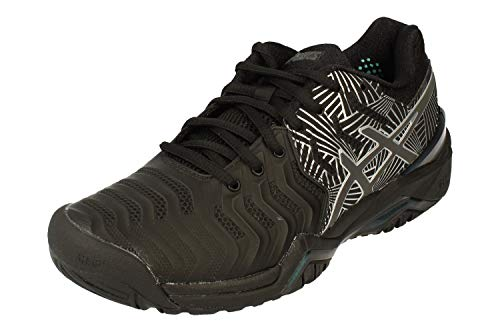 ASICS Gel-Resolution 7 L.E. Womens Tennis Shoes 1042A092 Trainers (UK 3.5 US 5.5 EU 36, Black Silver 001)
