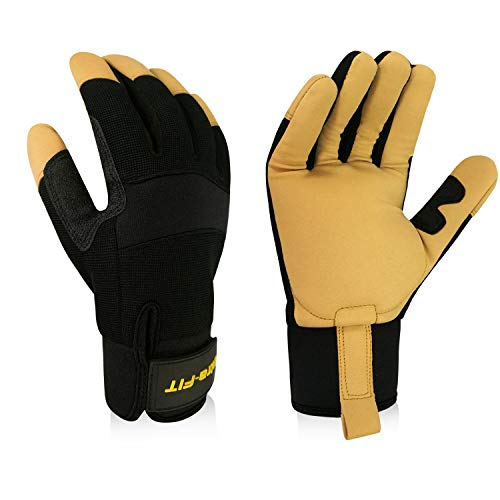 Intra-FIT Professional Anti-vibration Glove ISO 10819:2013 certified,EN388:2003 Reinforced Palm and Thumb, Idea For Road Breakers, Sanders, Grinders and Chipping Hammers