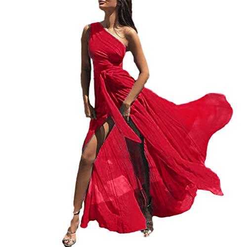 Adelina effen kleuren chiffon kleding dames Shoulder Waist High One grote Vacation geschenken slinger zomerjurken vrouwen mouwloos slank trendy Perfect Partyjurken