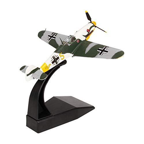 Model plane, 1:72 Messerschmitt Bf 109 Fighter Attack Metal Plane Model, World War II Luftwaffe 1942, Military Airplane Model,Diecast Plane,for Collecting and Gift