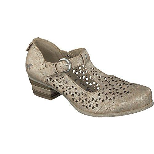 MUSTANG Spangen Pumps 1187-207 Metallic Damen Schuhe, Schuhgröße:39 EU, Farbe:Gold