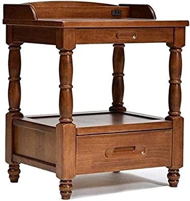 HXH Furniture/Bedside Cabinet with Drawer and Shelf Storage Multipurpose End Side Home Furniture Table (Color : Wine red) (Color : Coffee Color)