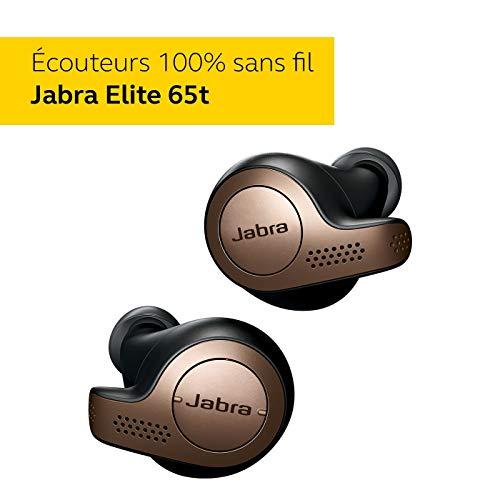 Jabra Elite 65t Écouteurs – Écouteurs Bluetooth sans Fil à Isolation Passive du Bruit avec Technologie à 4 Microphones…
