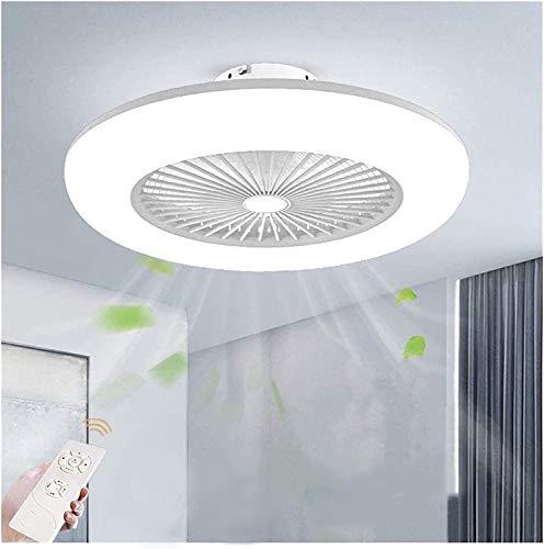 Ventilador de techo con luz Control remoto de estilo moderno Iluminación regulable de 3 velocidades de viento ajustable para el dormitorio Sala