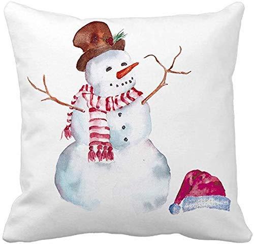 LAKILAN Pillow Covers Super Soft Christmas Snowman Throw Pillow Covers Xmas Party Home Decor Pillowcase Cushion Cover