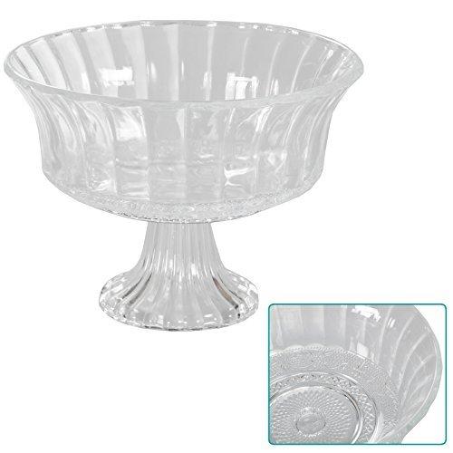 DRULINE Dekoschale auf Fuß Glasschale Glas Schale Obstschale Bonbonschale Vintage