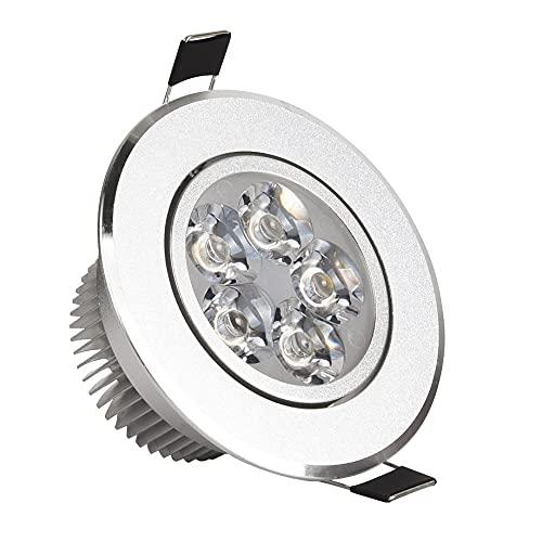 LONGWDS 10pc LED Downlight Spot Lights Lámpara LED 110V 220V Techo Empotrado Regulable 3W 4W 5W 7W Punto de instalación fácil (Emitting Color : Pure White 6000K, Wattage : 4W Dimmable)
