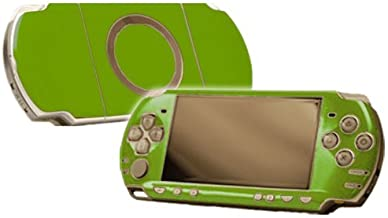 Monster Green Vinyl Decal Faceplate Mod Skin Kit for Sony PlayStation Portable 2000 (PSP-Slim) Console by System Skins