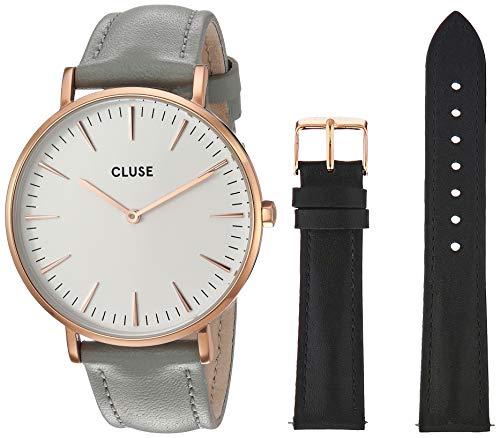 CLUSE Damen Analog Quarz Uhr mit Leder Armband CG1519201001