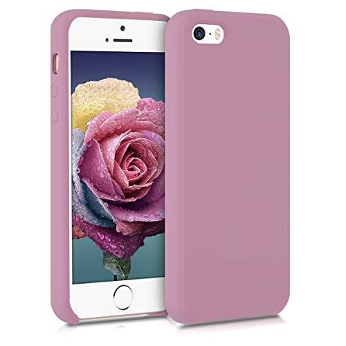 kwmobile Funda Compatible con Apple iPhone SE (1.Gen 2016) / 5 / 5S - Carcasa de TPU para móvil - Cover Trasero en Malva