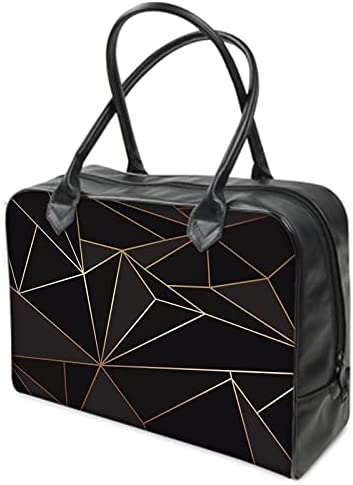 Abstract Black Polygon with Limited time for free shipping Bag Gold Holdalls 5 ☆ popular Line