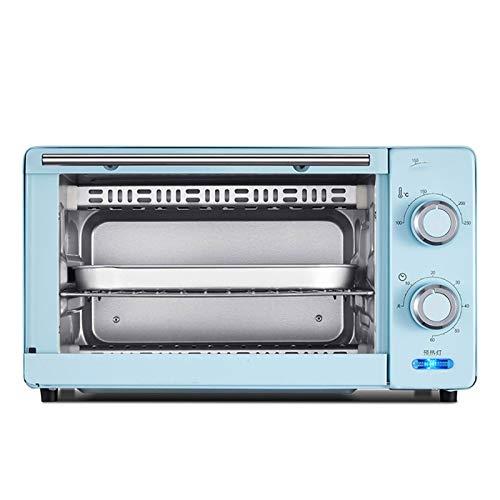 Adesign Horno eléctrico Hogar Automático Horneado Mini pequeño Horno multifunción, Control de Temperatura de área Ancha de 230 ° C, para Hornear cocinando asado asado asado (Color : Blue)