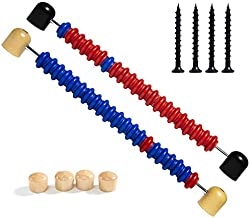 Shuffleboard Score Keeper - Abacus Bead Score Counter, Wooden Shuffleboard Scorer for Shuffleboard Tables with Installing Hardwares